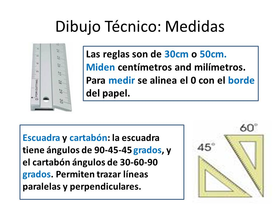 Dibujo Técnico: Medidas El transportador de ángulos es una herramienta que permite medir ángulos entre 0 1 180 grados.