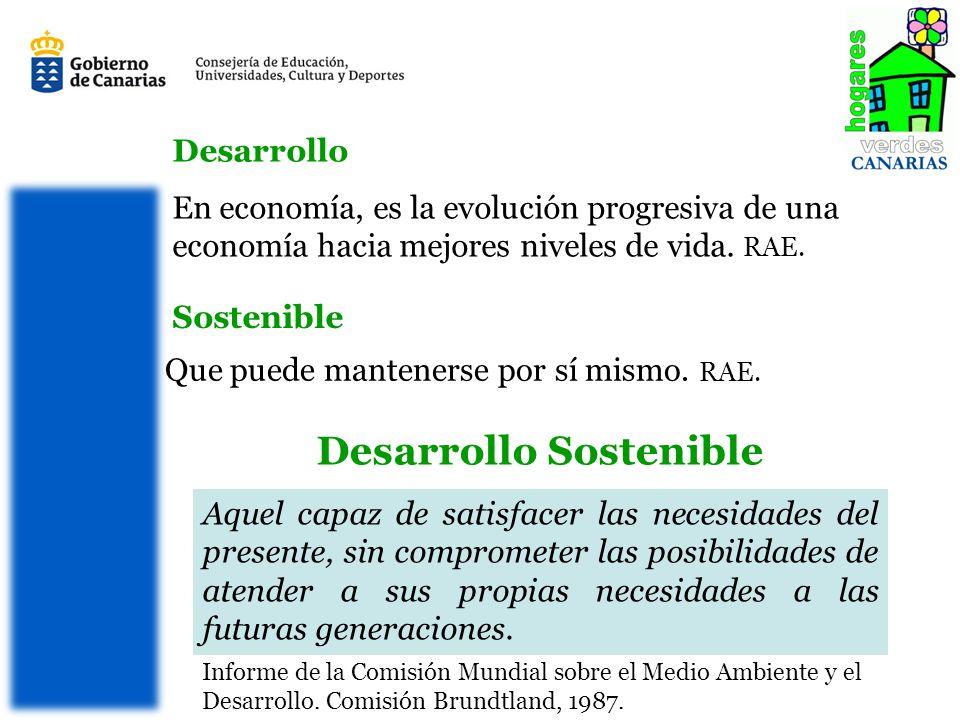 SOSTENIBILIDAD Capacidad de un sistema de renovarse de forma indefinida.