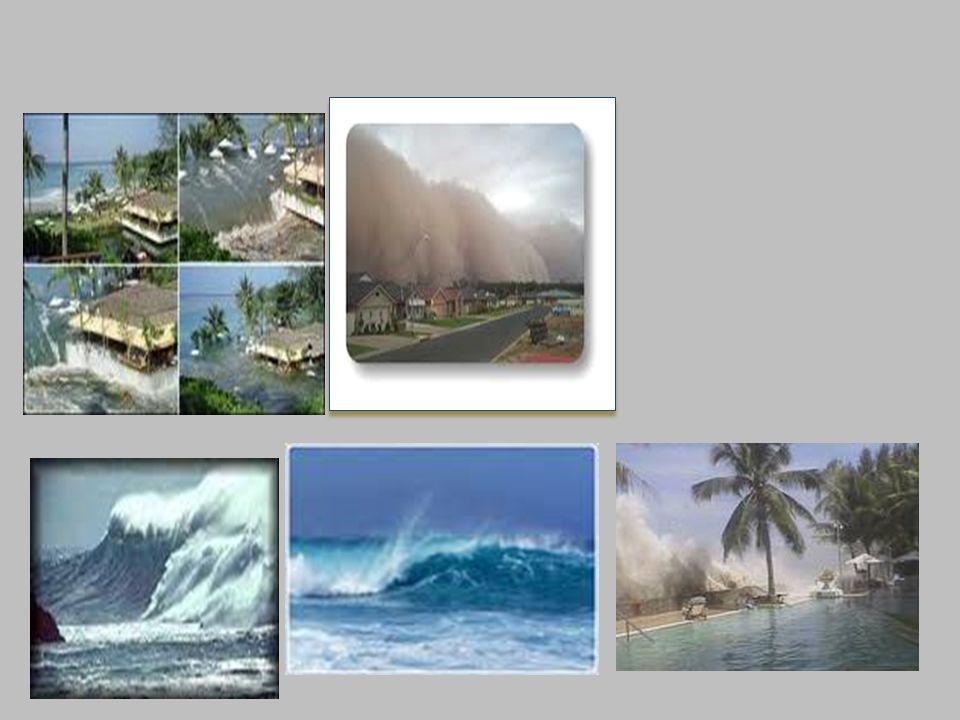 Son ondas de agua causadas por una ruptura, o sismo, de manera lenta, en el piso del océano, capaz de alterar las condiciones naturales en la superfic