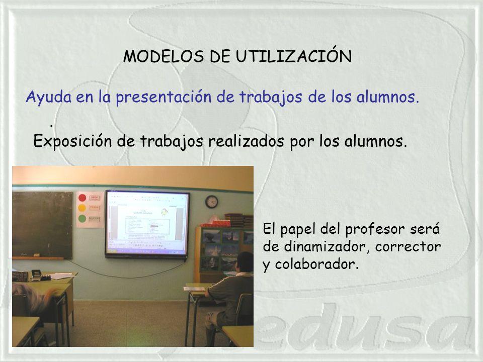 MODELOS DE UTILIZACIÓN. Ayuda en la presentación de trabajos de los alumnos.
