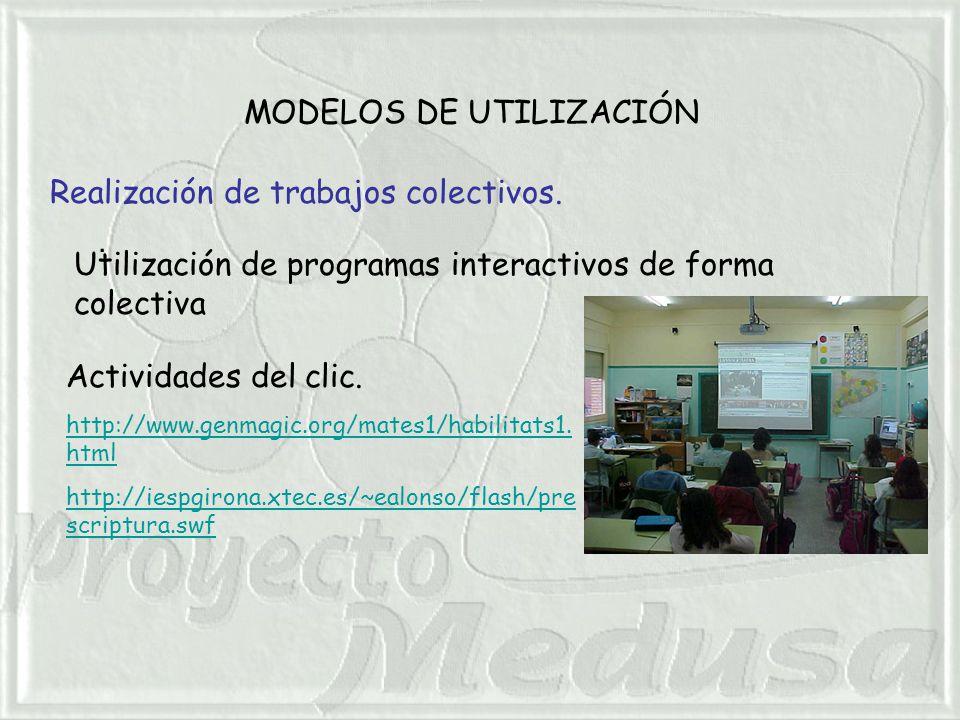 MODELOS DE UTILIZACIÓN. Realización de trabajos colectivos.