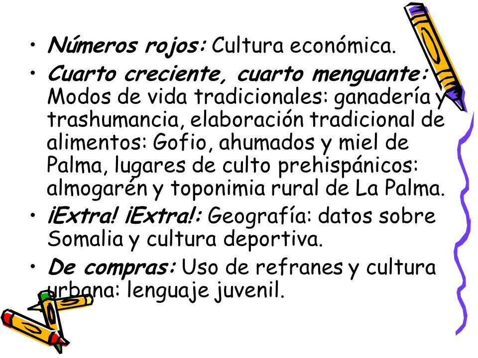 Números rojos: Cultura económica.