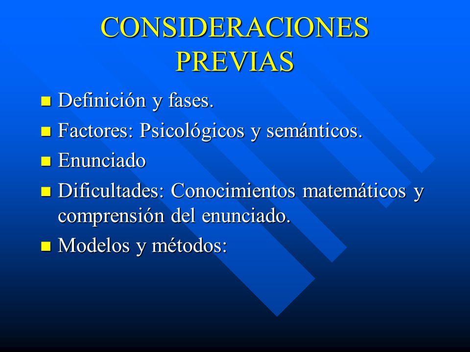 CONSIDERACIONES PREVIAS Definición y fases.Definición y fases.