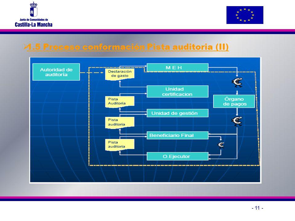 - 11 - 1.5 Proceso conformación Pista auditoria (II)