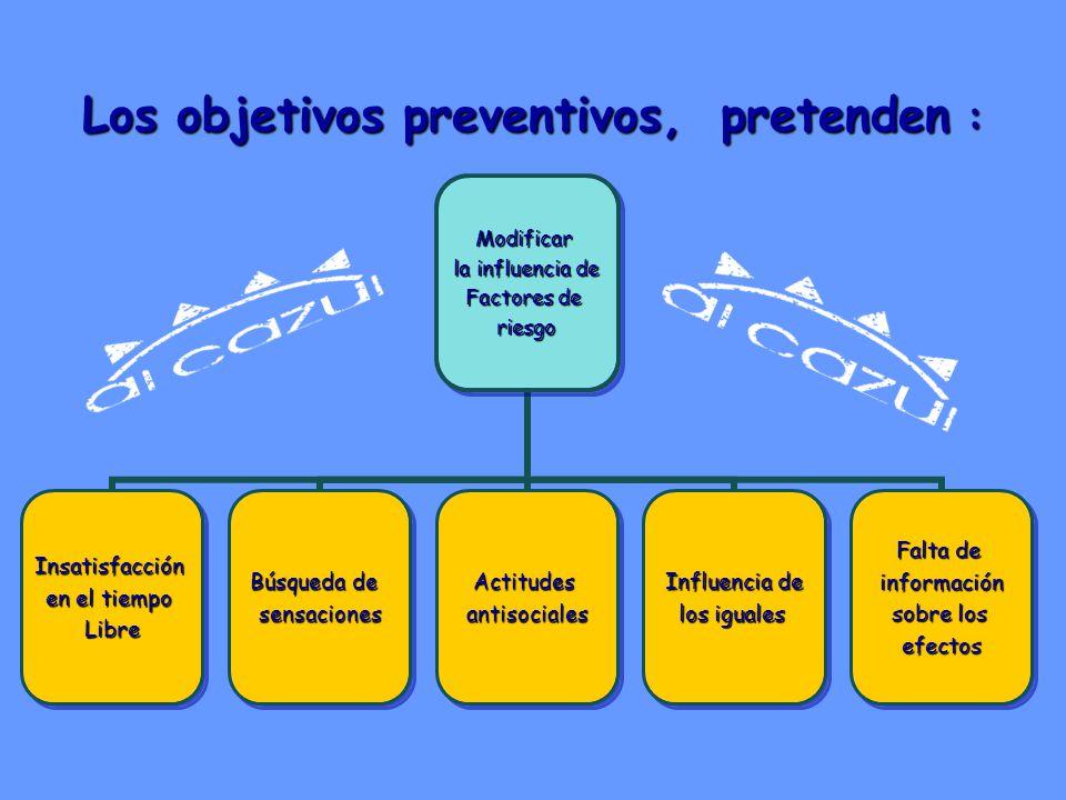 Los objetivos preventivos, pretenden :
