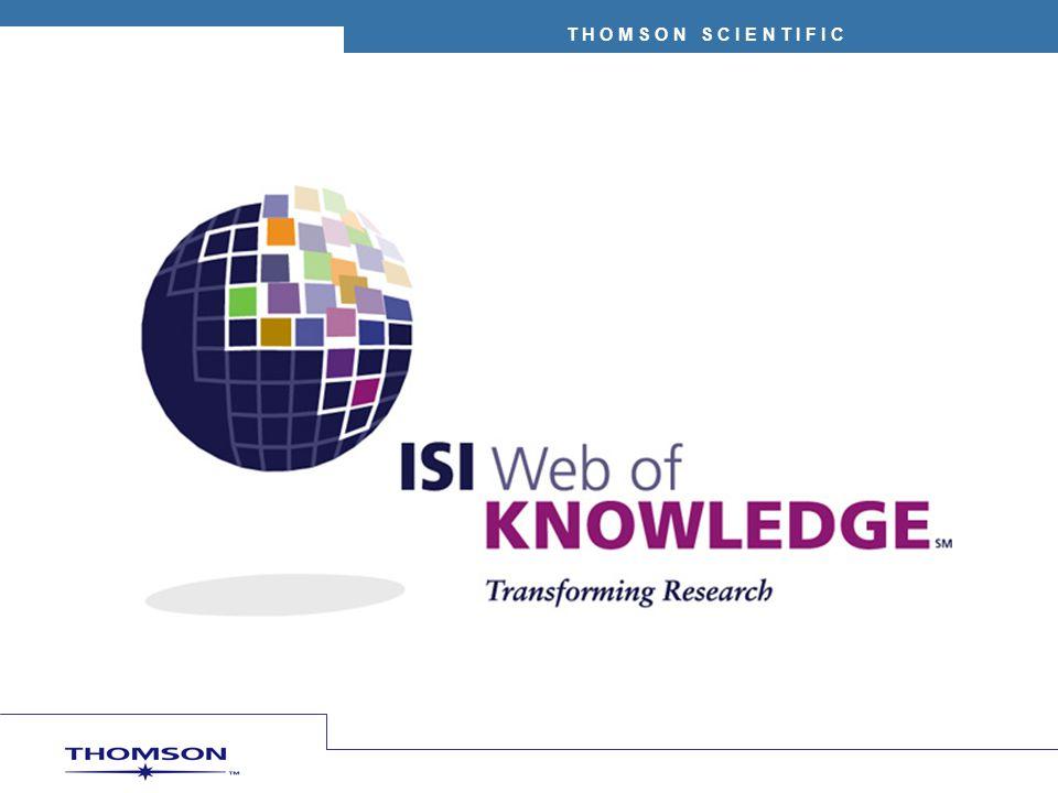 ISI Web of Knowledge Una plataforma basada en web que permite el acceso a información investigativa de alta calidad Portal de bases de datos bibliográficas y herramientas de análisis Ofrece la posibilidad de consultar todas las bases de datos al mismo tiempo – CrossSearch (búsqueda transversal) Registro de usuarios – permite un espacio personal y ofrece todas las ventajas de las funcionalidades de las bases de datos