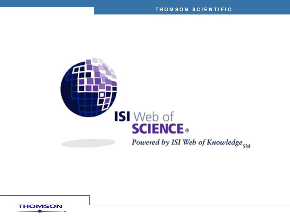 Versión Web de los Indices de Citas Science Citation Index Expanded –5.900+ publicaciones desde 1945 Social Sciences Citation Index® –1.725+ publicaciones desde 1956 Arts & Humanities Citation Index® –1.150 publicaciones desde 1975