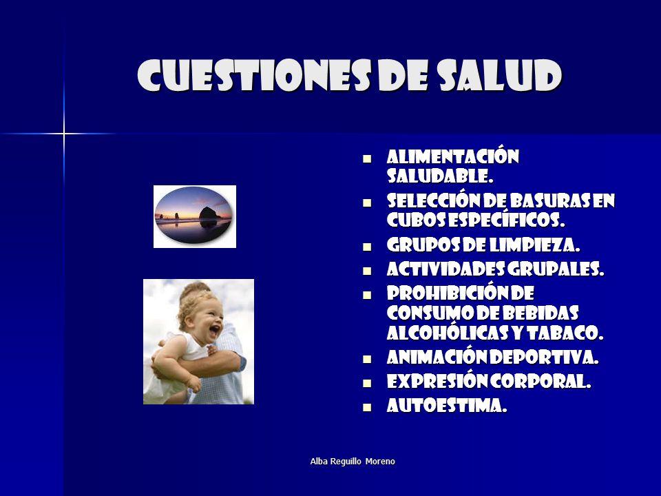 Alba Reguillo Moreno Cuestiones de salud Alimentación saludable. Alimentación saludable. Selección de basuras en cubos específicos. Selección de basur