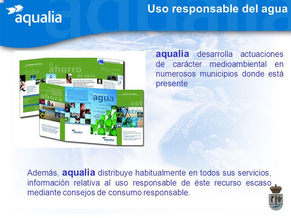 Uso responsable del agua aqualia desarrolla actuaciones de carácter medioambiental en numerosos municipios donde está presente Además, aqualia distrib