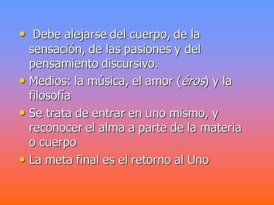 Concepción del ser humano Deriva de los anteriores propósitos Deriva de los anteriores propósitos Dualista: cuerpo y alma.