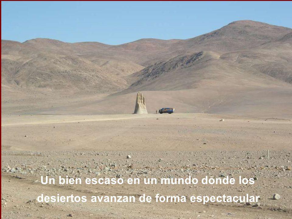 Un bien escaso en un mundo donde los desiertos avanzan de forma espectacular