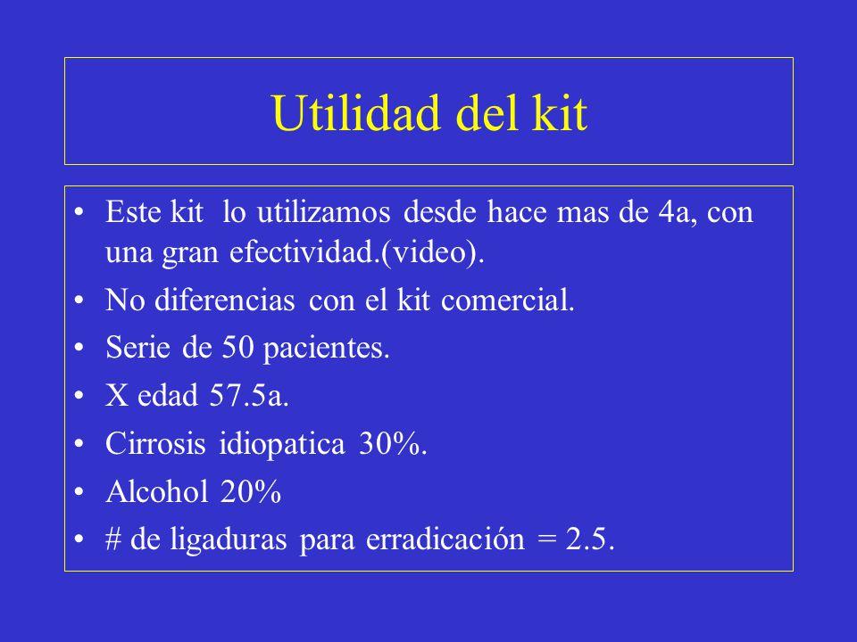 Utilidad del kit Este kit lo utilizamos desde hace mas de 4a, con una gran efectividad.(video). No diferencias con el kit comercial. Serie de 50 pacie