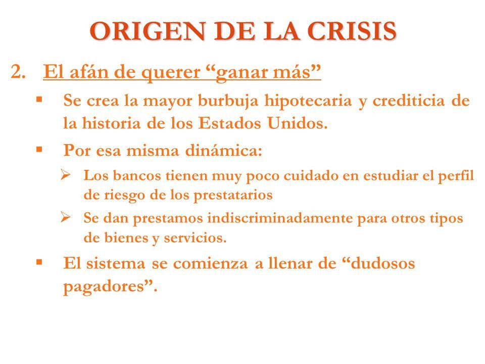 EFECTOS INMEDIATOS DE LA CRISIS 4.4.¿Quiénes pierden.
