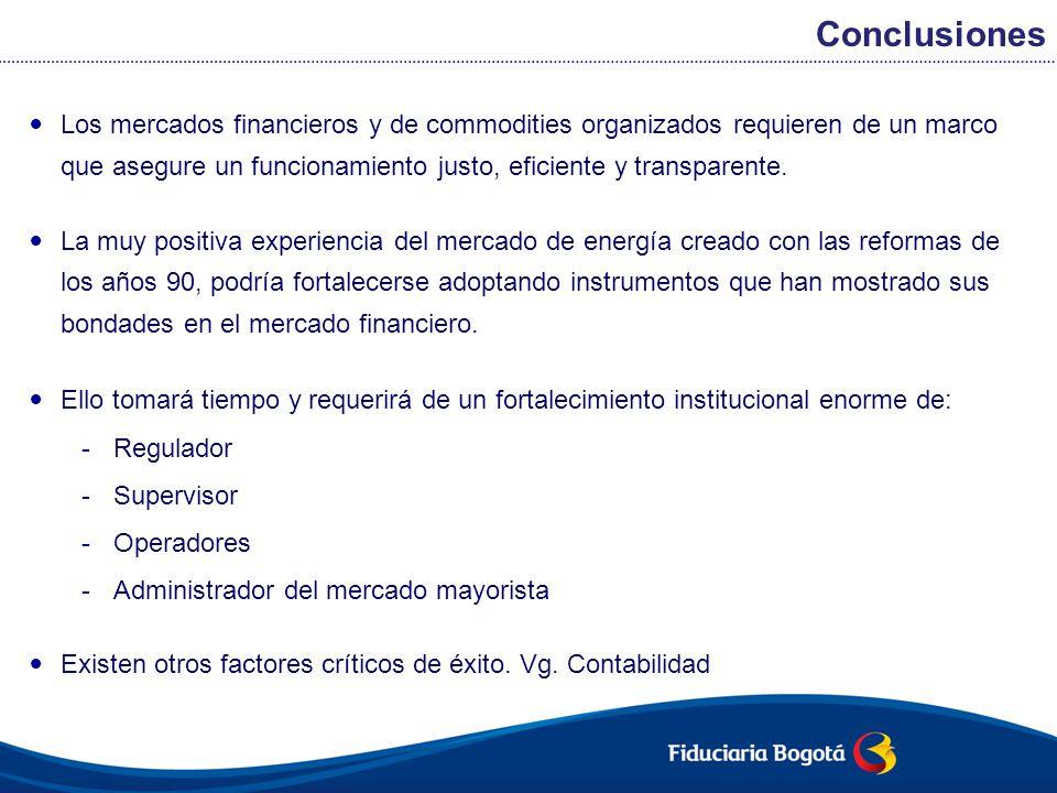 Los mercados financieros y de commodities organizados requieren de un marco que asegure un funcionamiento justo, eficiente y transparente. La muy posi