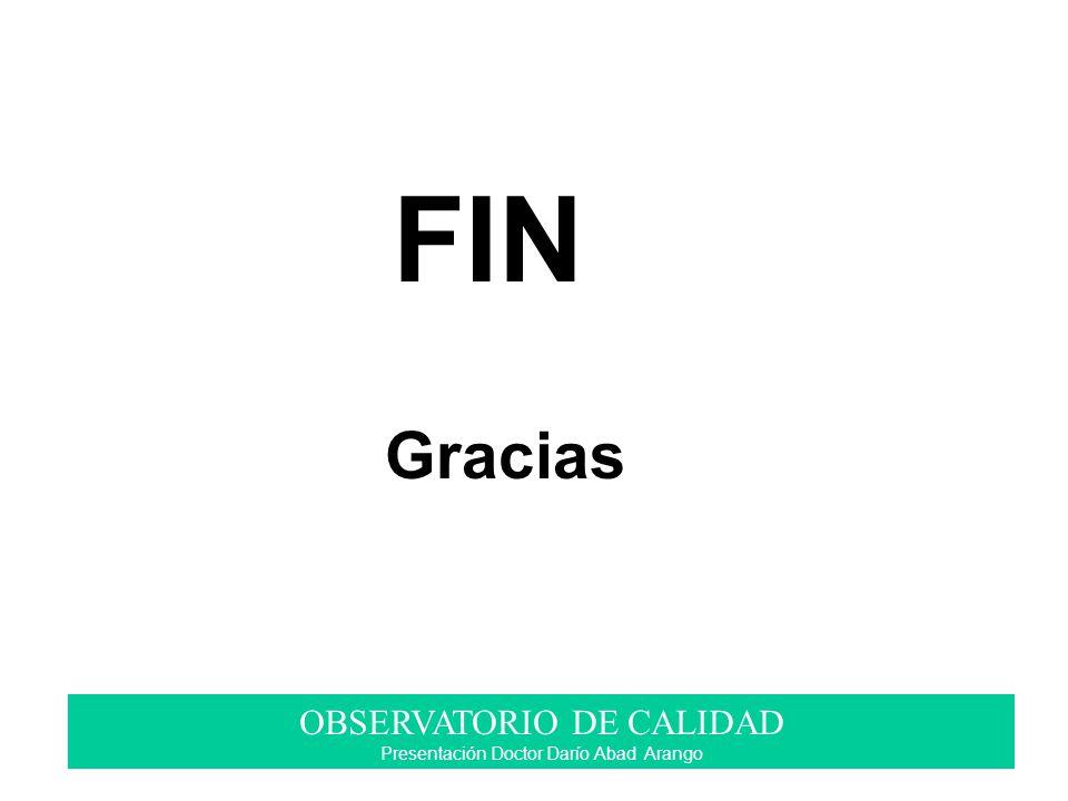 FIN Gracias OBSERVATORIO DE CALIDAD Presentación Doctor Darío Abad Arango