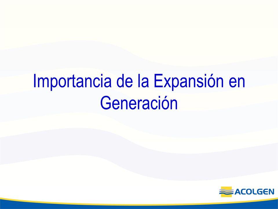Importancia de la Expansión en Generación