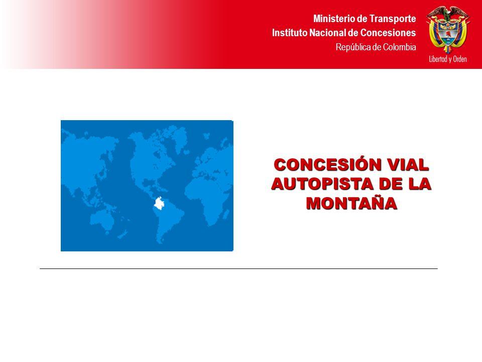 Ministerio de Transporte Instituto Nacional de Concesiones República de Colombia Construcción Nueva Km.