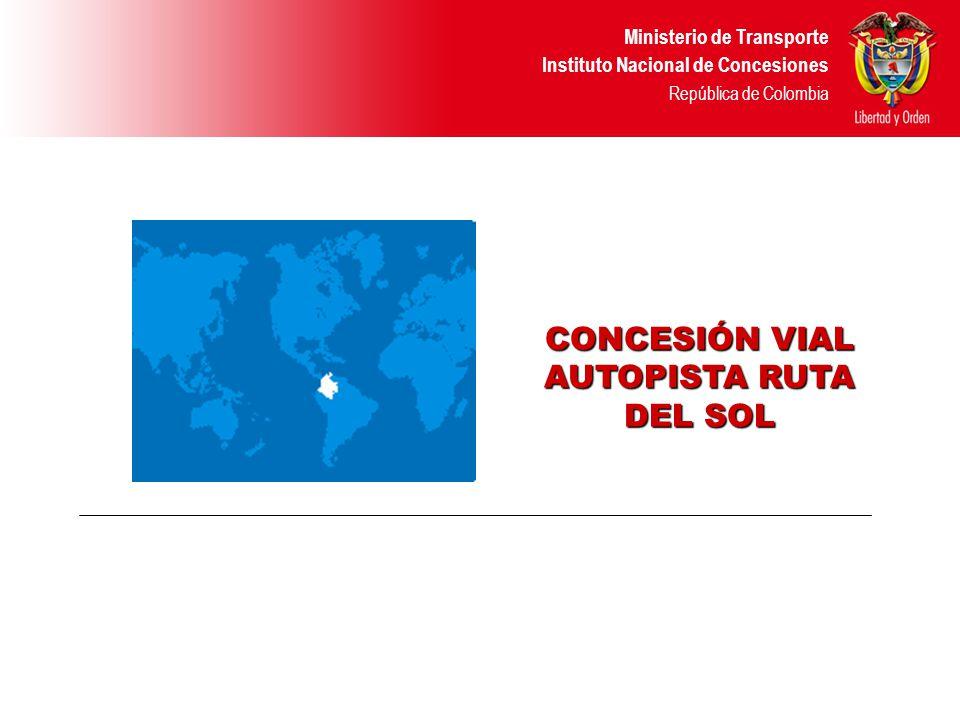 Ministerio de Transporte Instituto Nacional de Concesiones República de Colombia HECHOS -El pasado 18 de Octubre se suscribió el convenio de cooperación técnica entre el INCO y la IFC para la estructuración técnica, legal, financiera y promoción del proyecto.