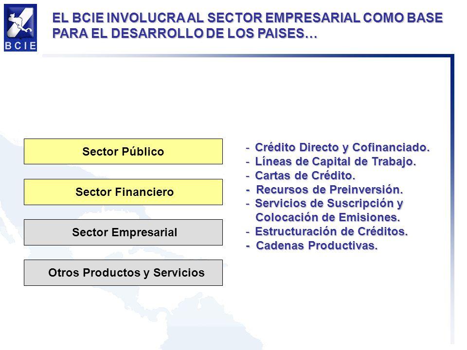 -Crédito Directo y Cofinanciado. -Líneas de Capital de Trabajo.