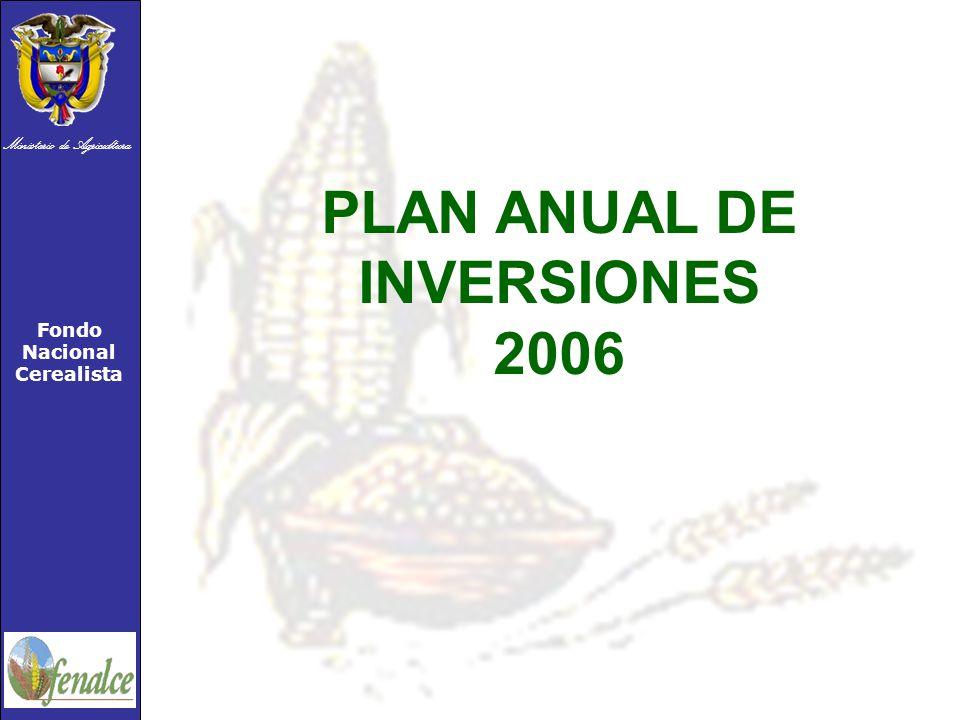 Ministerio de Agricultura Fondo Nacional Cerealista PLAN ANUAL DE INVERSIONES 2006