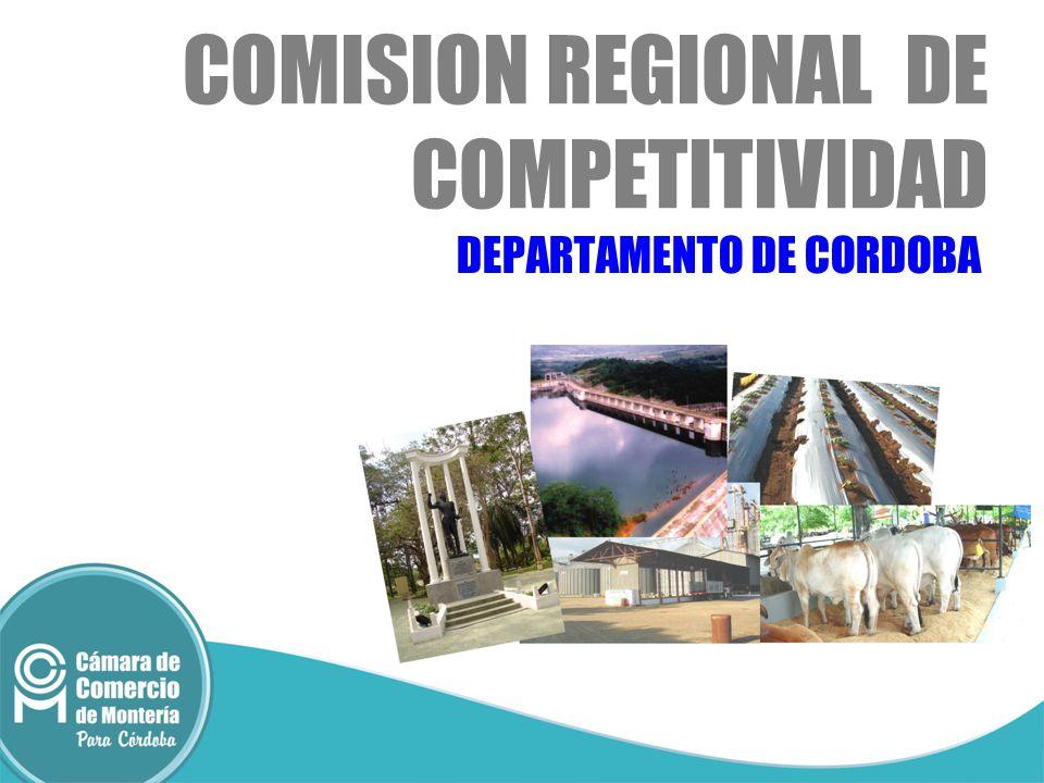 COMISION REGIONAL DE COMPETITIVIDAD DEPARTAMENTO DE CORDOBA