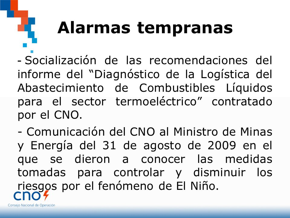Alarmas tempranas - Socialización de las recomendaciones del informe del Diagnóstico de la Logística del Abastecimiento de Combustibles Líquidos para