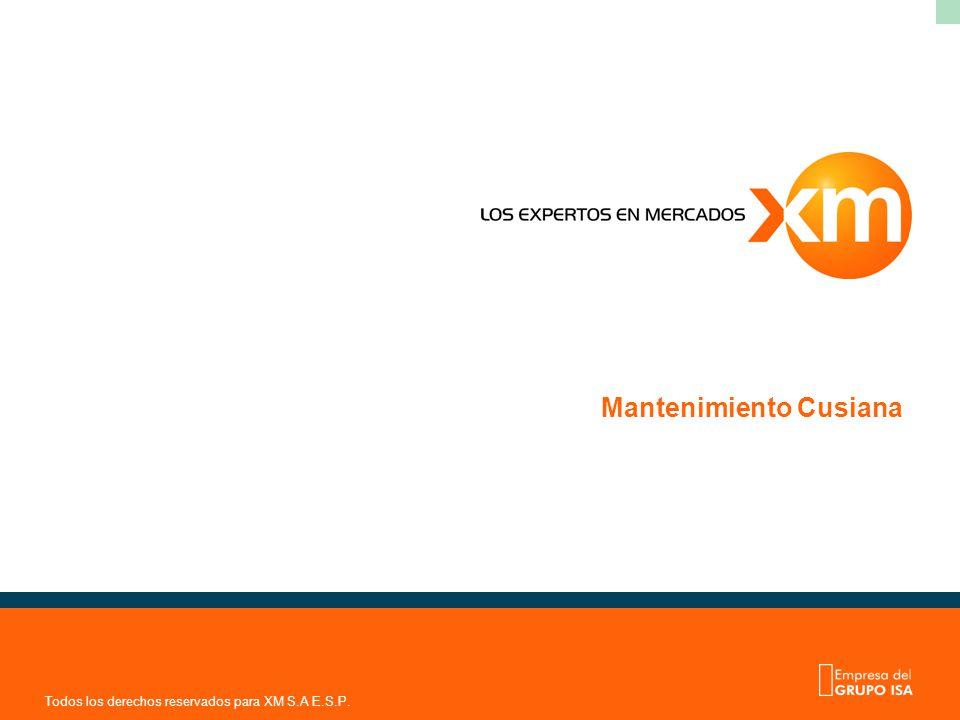 Todos los derechos reservados para XM S.A E.S.P. Mantenimiento Cusiana