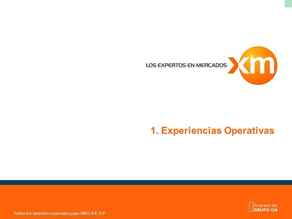 Todos los derechos reservados para XM S.A E.S.P. 1. Experiencias Operativas