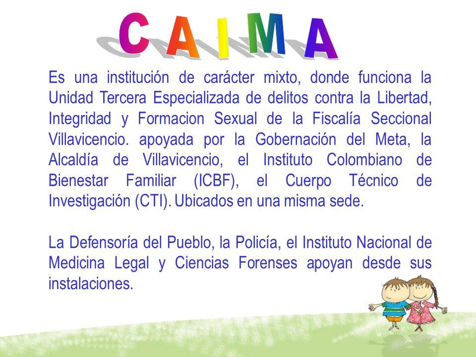 Es una institución de carácter mixto, donde funciona la Unidad Tercera Especializada de delitos contra la Libertad, Integridad y Formacion Sexual de l