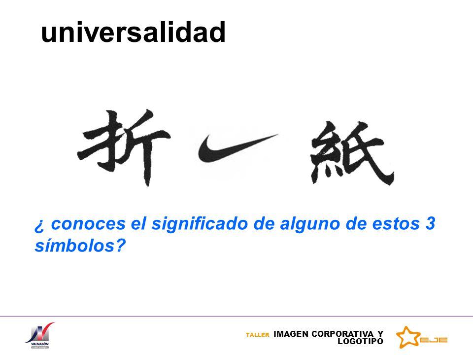 universalidad ¿ conoces el significado de alguno de estos 3 símbolos?