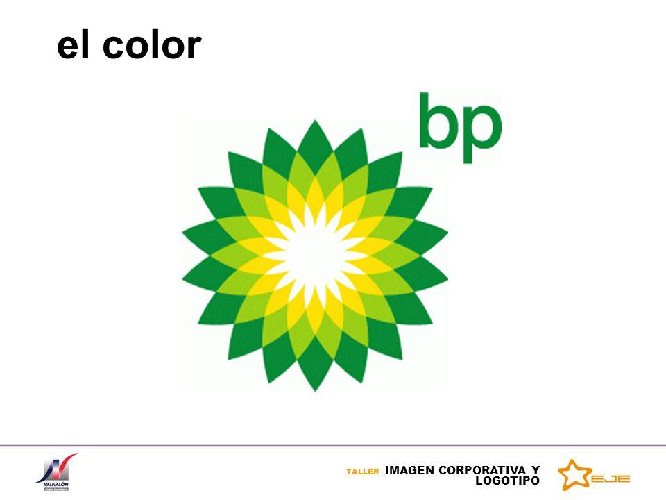 TALLER IMAGEN CORPORATIVA Y LOGOTIPO el color