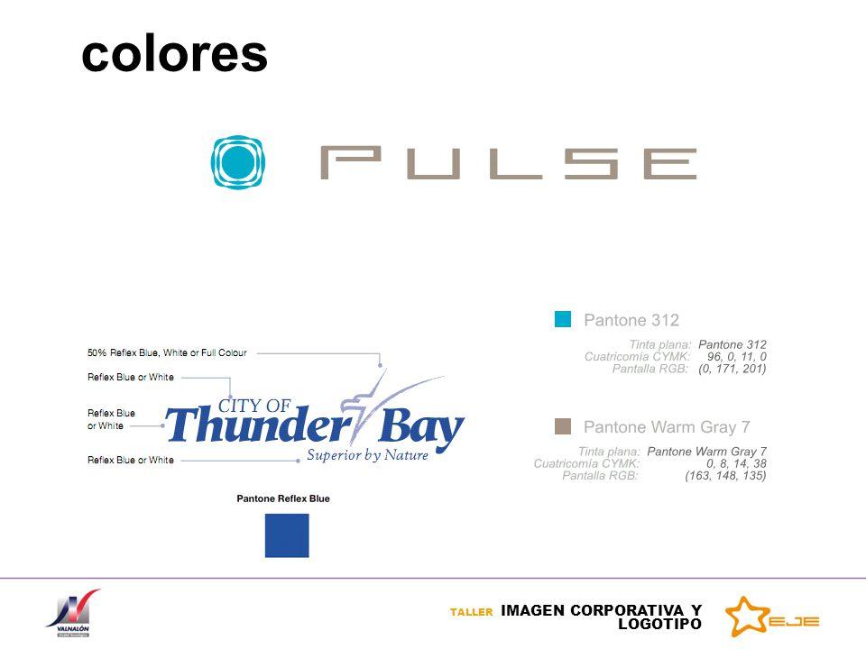 TALLER IMAGEN CORPORATIVA Y LOGOTIPO colores