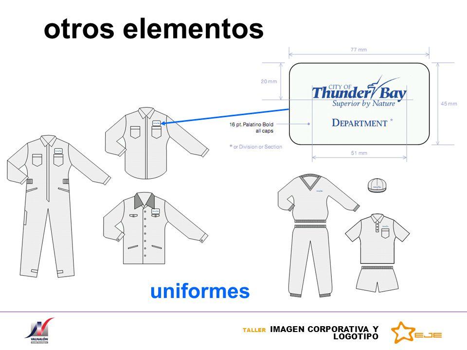 TALLER IMAGEN CORPORATIVA Y LOGOTIPO otros elementos uniformes