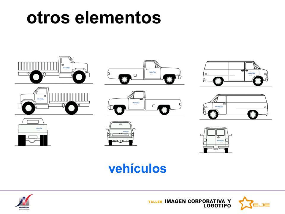 TALLER IMAGEN CORPORATIVA Y LOGOTIPO otros elementos vehículos
