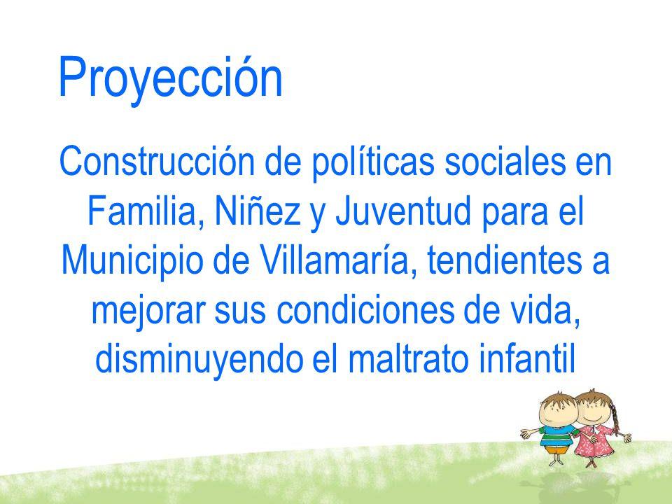 Proyección Construcción de políticas sociales en Familia, Niñez y Juventud para el Municipio de Villamaría, tendientes a mejorar sus condiciones de vi