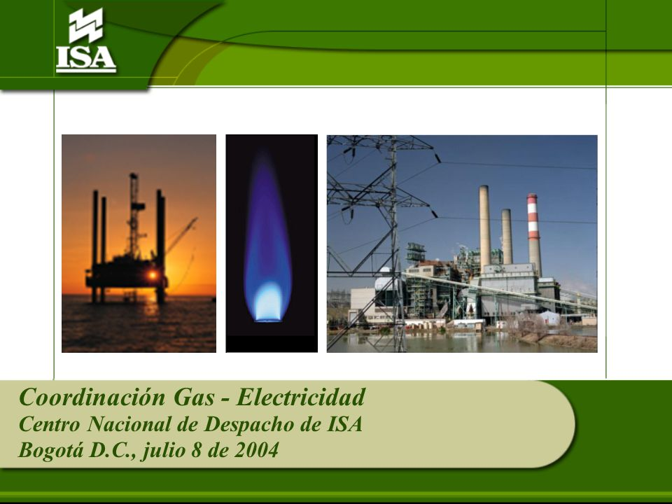 EL DESPACHO ELÉCTRICO Y EL SUMINISTRO DE GAS GENERACIÓN CON COMBUSTIBLES SUSTITUTOS Acuerdo 231 CNO Eléctrico Establece los plazos para declarar características técnicas para generar con combustibles sustitutos al principal.