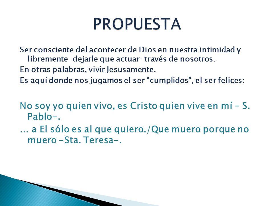 El que hace la voluntad de Dios, ése es mi hermano y mi hermana y mi madre (Mc 3,35) No es mandar desde fuera, es lograr que la comunicación de vida, de vida divina, por tanto de amor, mueva al otro a obedecer.