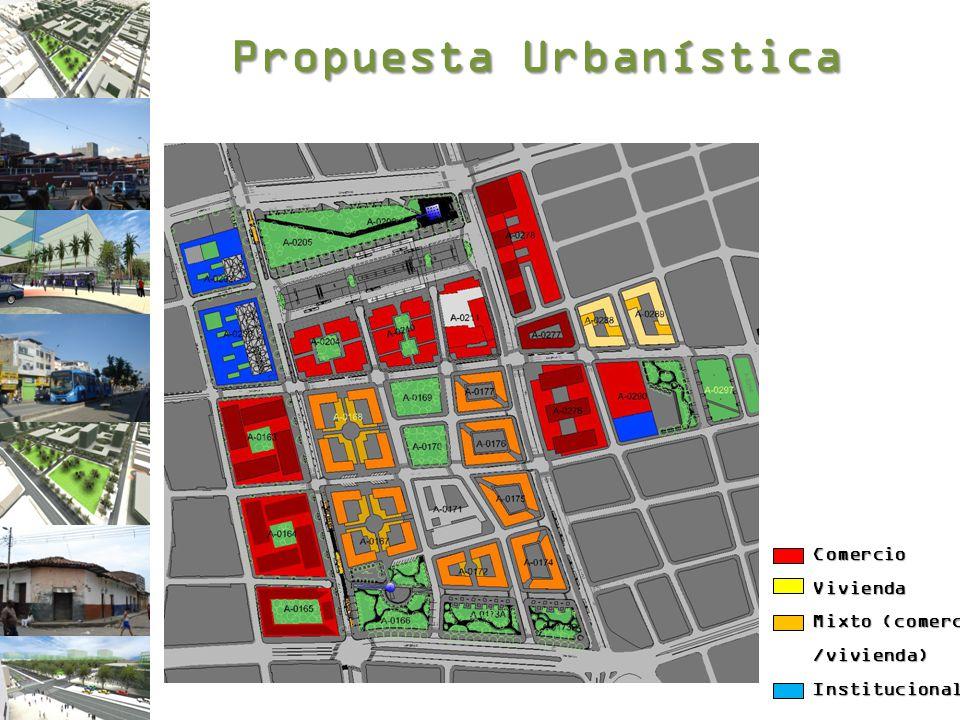 Propuesta Urbanística ComercioVivienda Mixto (comercio /vivienda)Institucional