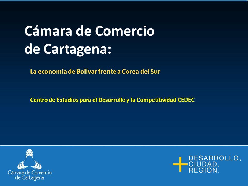 Cámara de Comercio de Cartagena: La economía de Bolívar frente a Corea del Sur Centro de Estudios para el Desarrollo y la Competitividad CEDEC