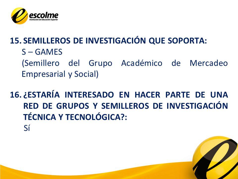 17.¿ESTARÍA INTERESADO EN ADELANTAR PROYECTOS DE INVESTIGACIÓN BAJO LA FIGURA DE LA COFINANCIACIÓN.