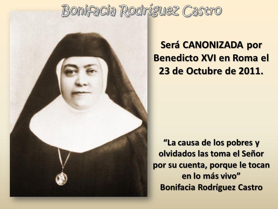 Será CANONIZADA por Benedicto XVI en Roma el 23 de Octubre de 2011.