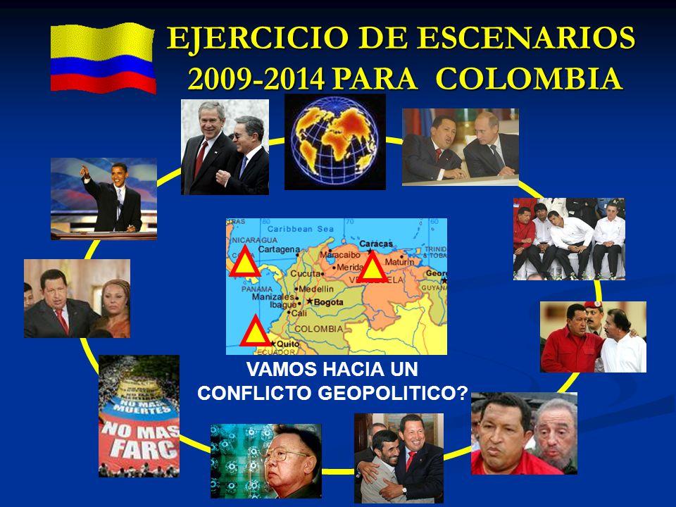 VAMOS HACIA UN CONFLICTO GEOPOLITICO? EJERCICIO DE ESCENARIOS 2009-2014 PARA COLOMBIA
