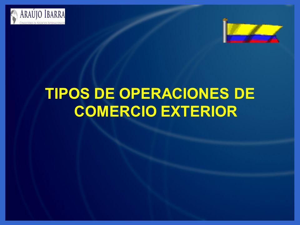 TIPOS DE OPERACIONES DE COMERCIO EXTERIOR