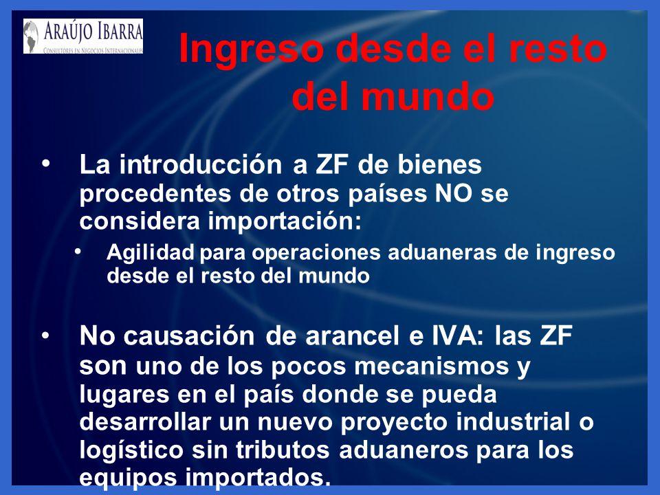 La introducción a ZF de bienes procedentes de otros países NO se considera importación: Agilidad para operaciones aduaneras de ingreso desde el resto