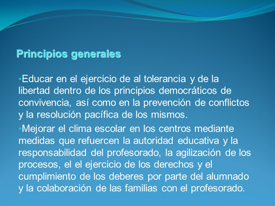 Educar en el ejercicio de al tolerancia y de la libertad dentro de los principios democráticos de convivencia, así como en la prevención de conflictos