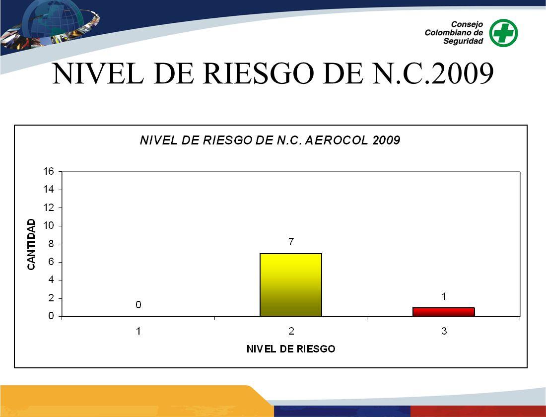 NIVEL DE RIESGO DE N.C.2009
