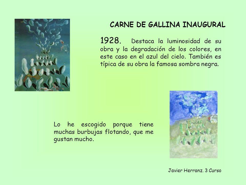 1928. Destaca la luminosidad de su obra y la degradación de los colores, en este caso en el azul del cielo. También es típica de su obra la famosa som