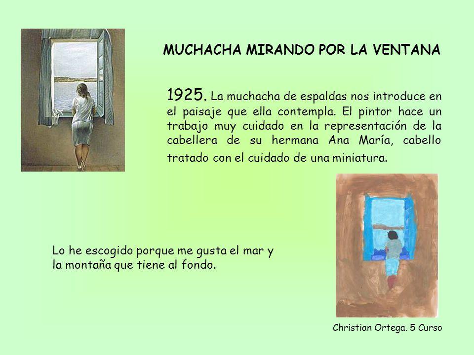 MUCHACHA MIRANDO POR LA VENTANA 1925.