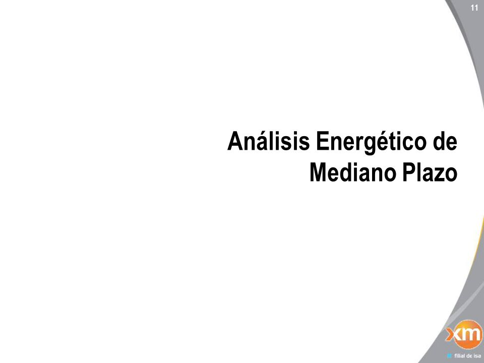 11 Análisis Energético de Mediano Plazo