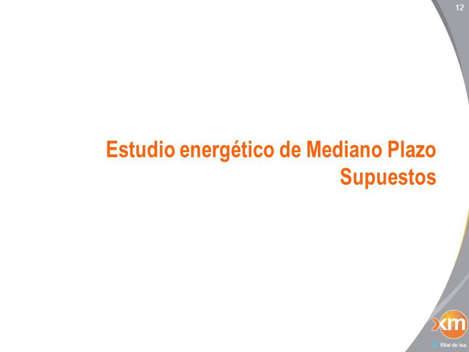 12 Estudio energético de Mediano Plazo Supuestos